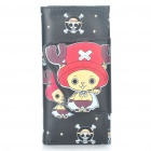 One Piece Chopper Pattern 2-Fold PU Leather Wallet - Black