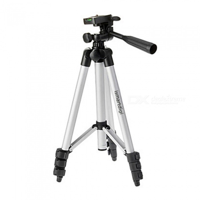 Universal Retractable Camcorder Camera TrIPOD - Silver + BlackTripods and Holders<br>Model:Form  ColorBlackMaterial:Packing List<br>