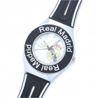 Real Madrid Pattern Water Resistant Wrist Watch - Black + White (1 x 626)