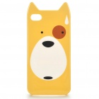 Cute Cartoon Bär Pattern Protective TPU zurück Fall w / Screen Protector für iPhone 4 - Yellow