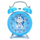 Cute Doraemon Pattern Twin Bell Alarm Clock w/ 1 Yellow LED Illumination (1 x AA/Random Color)