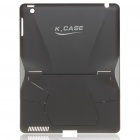Creative Protective PVC Kickstand Transformer Back Case for Ipad 2 - Black
