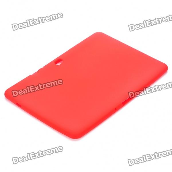 Ultra-Thin Protective Silicone Back Case for Samsung Galaxy Tab 10.1 P/7500/P7510 - Red