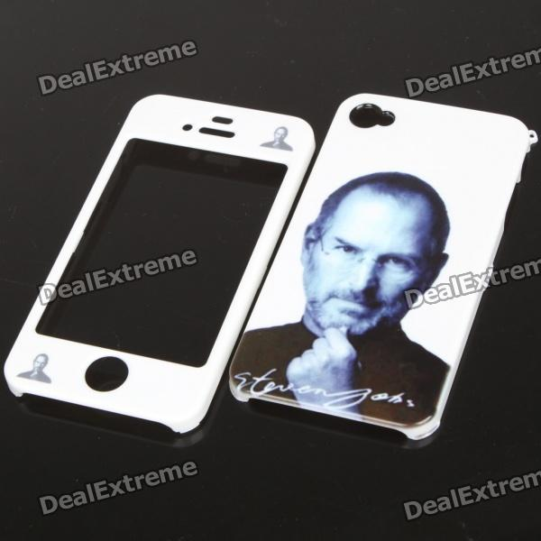 Remembering Steve Jobs Protective PVC Front and Back Case for iPhone 4