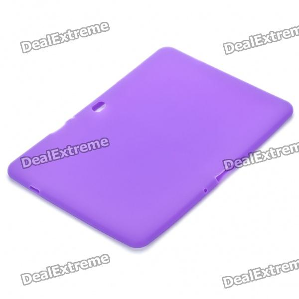 Ultra-Thin Protective Silicone Back Case for Samsung Galaxy Tab 10.1 - Purple
