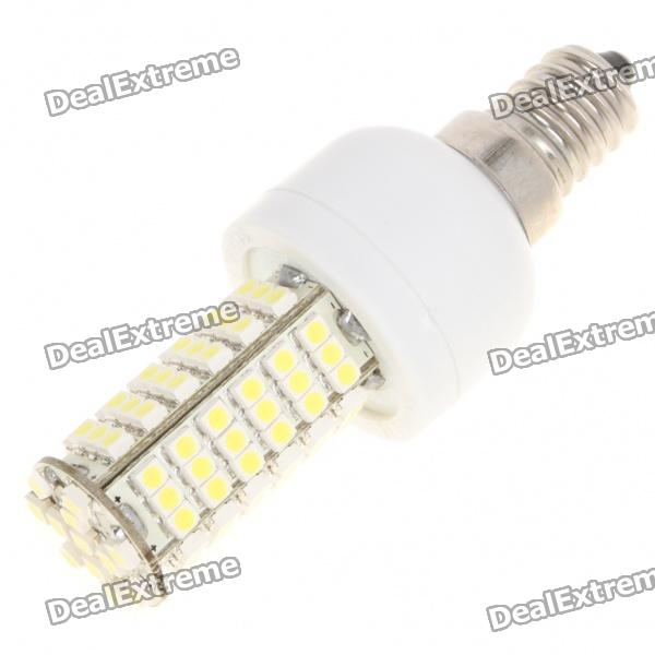 E14 6W 6500K 410-Lumen 102-3528 SMD LED White Light Bulb (AC 85~265V) e14 4w 160lm 6500k 16 smd 3528 led white light candle bulb ac 85 256v