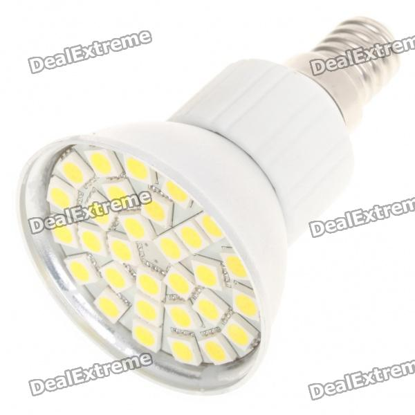 E14 5.5W 6500K 360-Lumen 30-5050 SMD LED White Light Bulb (AC 85~265V) r7s 15w 5050 smd led white light spotlight project lamp ac 85 265v