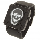 Designer's Cool Pirate Skull Style Self-Winding Mechanical Wrist Watch - Black