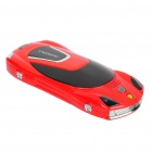 "F799 Car Style 2.0"" Dual SIM Dual Network Standby Quadband Slide Phone w/ FM - Red"