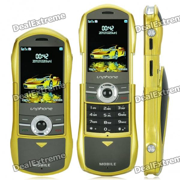 "F799 Auto Stil 2.0 ""Dual SIM Dual Network Standby Quadband Slide Phone w / FM - Lemon Yellow"