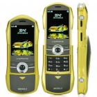 "F799 Car Style 2.0"" Dual SIM Dual Network Standby Quadband Slide Phone w/ FM - Lemon Yellow"