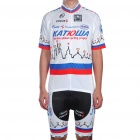 2011 Katusha Team Short Sleeve Cycling Bicycle Bike Riding Suit Jersey + Shorts Set (Size-XXXL)