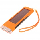 Solar Powered Rechargeable 800mAh Portable Power Pack w/ 3-LED White Light & Charging Adapters