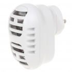 AC Powered 4-LED Purple Light Mosquito Insects Killer - White (AC 110~220V/2-Flat-Pin Plug)