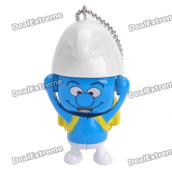 Cute Smurfs Face Changing Figure Toy Keychain - Random Style