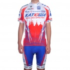 2011 Team Katusha Short Sleeve Cycling Bicycle Bike Riding Suit Jersey + Shorts Set (Size-XL)