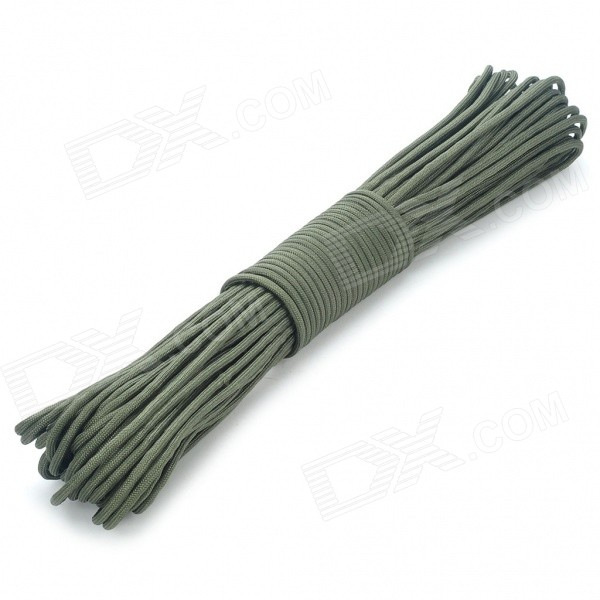 Military Survival Paracord Nylon Rope Cord - Army Green (30m) oumily military army survival parachute rope khaki 30m 140kg 2 pcs