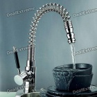 Modern Chromed Copper Pull-Out Sink Faucet Water Tap - Silver (100cm-Tube)
