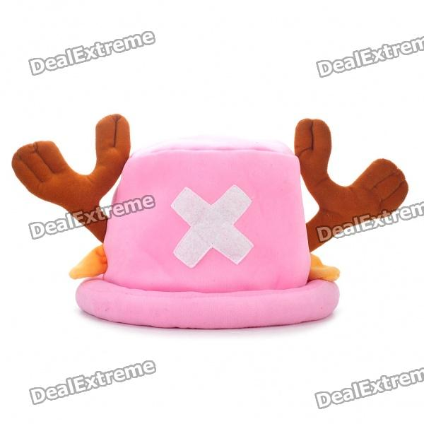 Lovely Tony Tony Chopper Cosplay Cap Hat - Pink + Brown no author match of the day annual 2014
