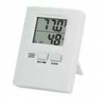 "1.7"" LCD Digital Indoor Thermometer/Humidity Meter - White (1 x AAA)"