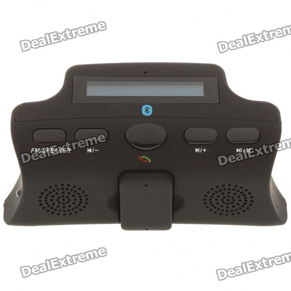 "1.7"" LCD Steering Wheel Mount MP3 Player FM Transmitter Bluetooth Caller ID Car Kit w/ TF - Black"