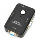 1 to 2 Ports 250MHz VGA Video Splitter - Black