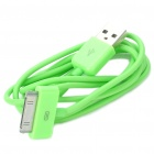USB Data/Charging Cable for iPad/iPhone/iPod - Green (90cm-Length)