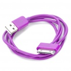 USB Daten / Ladekabel für iPad / iPhone / iPod - Purple (90cm-Länge)
