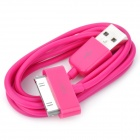 USB Data/Charging Cable for iPad/iPhone/iPod - Deep Pink (90cm-Length)
