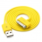 USB Data/Charging Cable for iPad/iPhone/iPod - Yellow (90cm-Length)