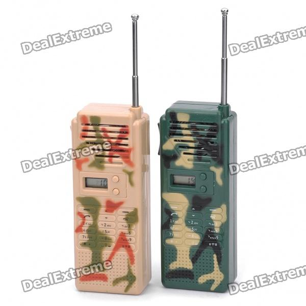 "0.6"" Display Screen Fashion Camouflage Walkie Talkie (Pair/2x9V) Dallas Buy Sell"