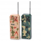 "0,6 ""Display Screen Mode Camouflage Walkie Talkie (Pair / 2x9V)"
