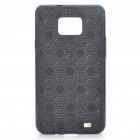 Protective PC Cover PU Back Case for Samsung Galaxy S2/i9100 - Black