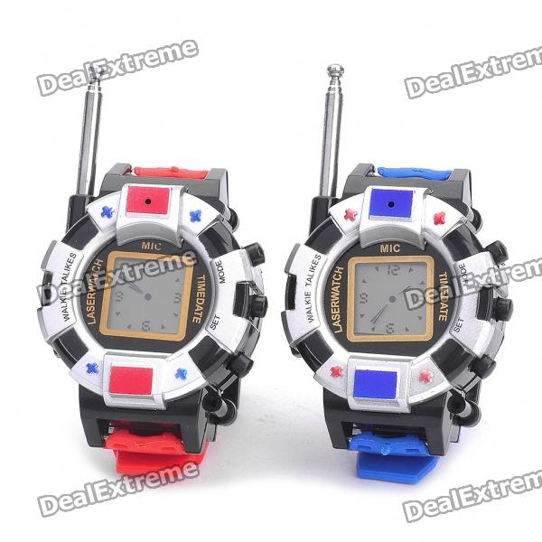 "0.9"" Display Screen Fashion Wrist Watch Style Walkie Talkie (Pair/6xAG10)"