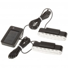 Solar Powered Flashing Dual 6-LED Red/Blue Light Car Strip Lamps