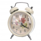 Korean Style Mini Alarm Clock - Off White (1 x 377 Battery / Random Style)