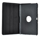 Protective 360 Degree Rotation Holder PU Leather Case for Samsung P7510 - Black