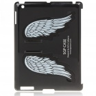 Charming Angel Wings Stand Back Case for iPad 2 - Black