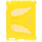 Charming Angel Wings Stand Back Case für iPad 2 - Yellow