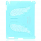 Charming Angel Wings Stand Back Case for iPad 2 - Blue