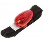 3-Mode 2-LED Red Light Armband with Velcro (1 x CR2032)