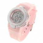 Waterproof Sports Digital Wrist Watch w/ Alarm/Stop Watch - Pink (1 x CR2016)