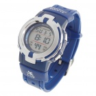 Waterproof Sports Digital Wrist Watch w/ Alarm/Stop Watch - Blue (1 x CR2016)