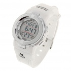 Waterproof Sports Digital Wrist Watch w/ Alarm/Stop Watch - White (1 x CR2016)