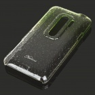 Stylish Gradient Color Water Drop Protective PC Back Case for HTC G17 - Transparent Green