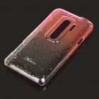 Stylish Gradient Color Water Drop Protective PC Back Case for HTC G17 - Transparent Pink