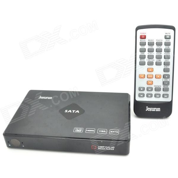 Portable 1080p Full HD Media Player con HDMI / VGA / AV / YPbPr / USB / SD - Negro