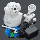 300KP Wireless WiFi/WLAN Network Surveillance IP Camera w/ 10-LED Night Vision/Microphone - White