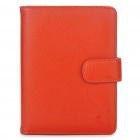 Stylish PU Leather Protective Carrying Case for Kindle 4 - Orange Red