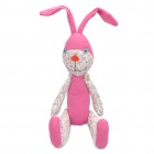 Stylish Fabric Art Rabbit Style Doll Toy - Pink + White (Posture Adjustable)